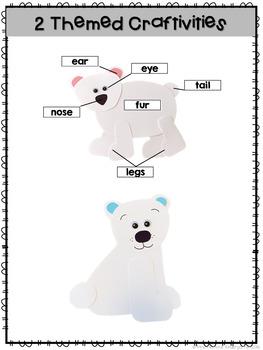 Polar Bears: Reading Comprehension, Writing and Craftivities