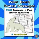 Polar Bears Reading Comprehension: Winter Reading Comprehension + 2 Audiobooks