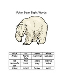 Polar Bears Reading List Words