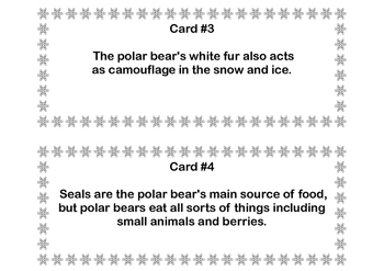 Polar Bears Scavenger Hunt- Read The Room- Grades 3-6