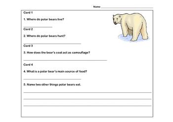 Polar Bears Scavenger Hunt- Read The Room- Grades 3-6