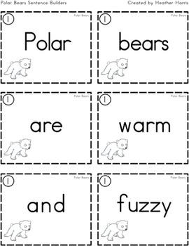 Polar Bears Sentence Builders