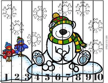 Polar Bears & Winter Birds Bundle -Literacy, Math, Social Emotional +More- Pre-K