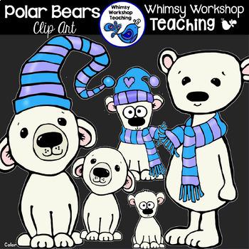 Polar Bears and Penguins Clip Art