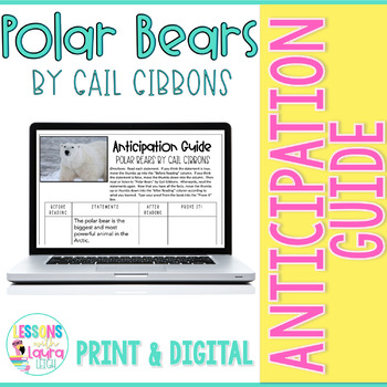 Polar Bears by Gail Gibbons Anticipation Guide
