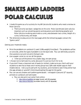Polar Calculus - for AP Calculus BC
