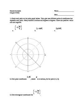 Polar Coordinate Test (Precalculus)