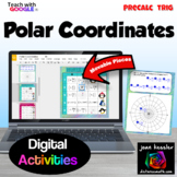 Polar Coordinates Digital Activities with GOOGLE Slides™ Distance Learning