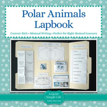 Polar Animals Lapbook or Interactive Notebook