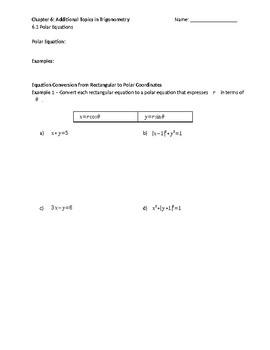 Polar Equations