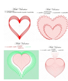 Polar Equations of Hearts for use in Math Valentines