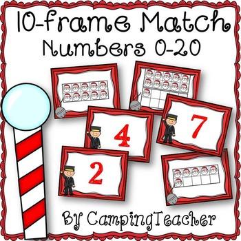 Polar Express Themed 10-Frame Match Numbers 0-20 Math Cent