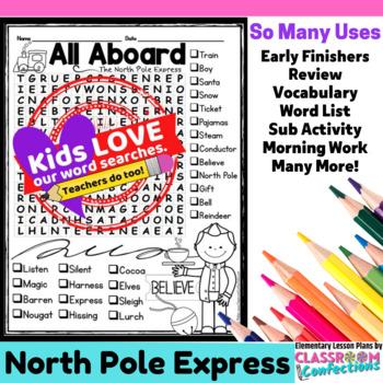 Polar Express Activity: Word Search