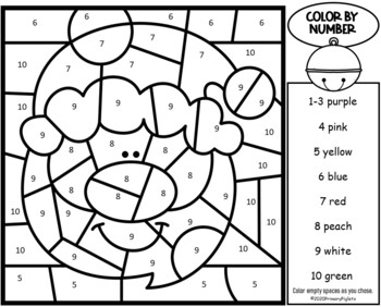 Polar Express Activities | Christmas Color by Number Mystery Pictures Sums 10-20