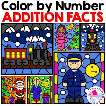Polar Express Activities Addition Color by Number
