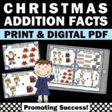 Christmas Math Activities, Addition Task Cards, Kindergart