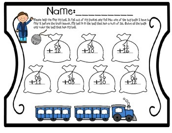 Polar Express Addition and Subtraction activity