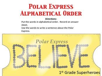 Polar Express Alphabetical Order