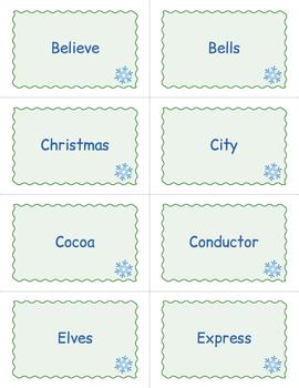 Polar Express Bingo Game