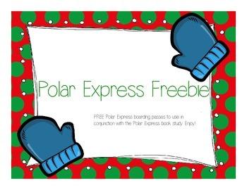 Polar Express Boarding Pass Freebie