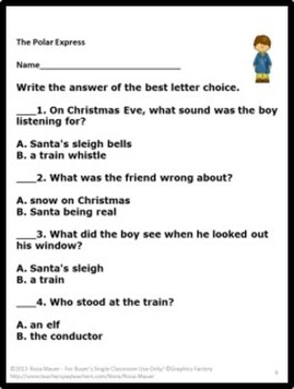 Polar Express Literacy Activities Resource