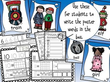 Polar Express Math & Literacy Bundle of Activities