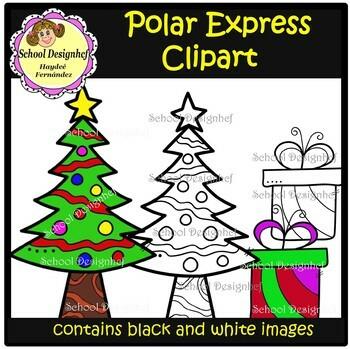 Polar Express - Christmas - Clip Art (SchoolDesignhcf)