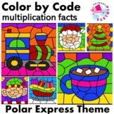 Polar Express Christmas Color by Number Multiplication
