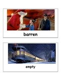 Polar Express Christmas Vocabulary Cards Match Game