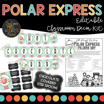Polar Express Party Christmas Classroom Decor Kit
