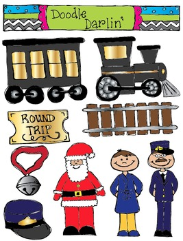 polar express clipart set by doodle darlin teachers pay teachers rh teacherspayteachers com polar express train clipart polar express clipart free