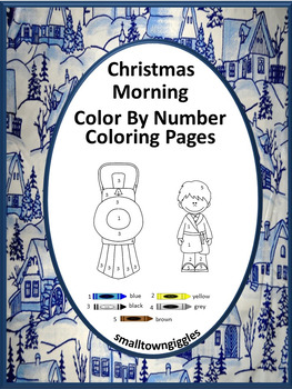 Christmas Activities NO PREP Color by Number For Centers o