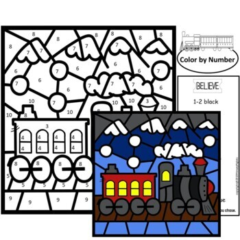 Polar Express Activities Color by Number
