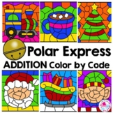 Polar Express Christmas Math Color by Number Sums 10-20