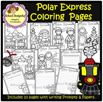 Polar Express - Coloring Pages - Writing Prompts/Paper (School Designhcf)