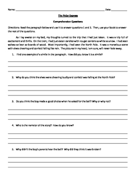 Polar Express Comprehension Questions