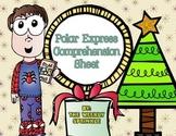 Polar Express Comprehension Sheet
