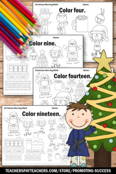 Christmas Counting Worksheets Kindergarten Math Christmas Coloring Pages