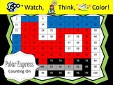 Polar Express Counting On Addition Practice - Watch, Think, Color Game!