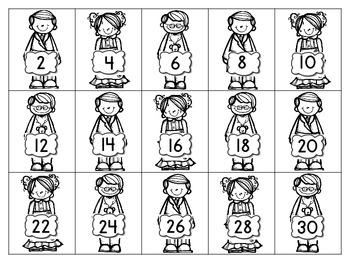 Polar Express Counting & Skip Counting Sentence Strip Activity