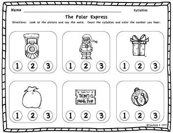 Polar Express Counting Syllables Activity