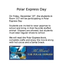 Polar Express Day Letter for Parents