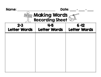 Polar Express Day - Making Words Activity