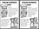 Polar Express Day - Parent Note
