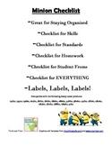 Minion Classroom Checklist Form