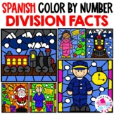 Polar Express Division Color by Number in Spanish