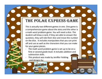 Polar Express Games (Reading Comprehension and Math)