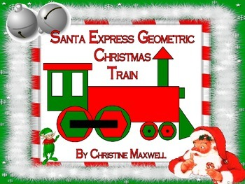 Free! Santa Express Geometric Christmas Train 2D Shapes