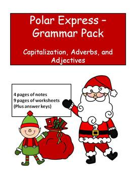 Polar Express- Grammar Pack for 3rd and Fourth Grade