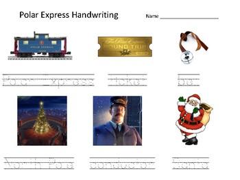 Polar Express Handwriting